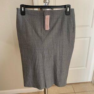 BANANA REPUBLIC Gray Wool Pencil Skirt SZ 0P